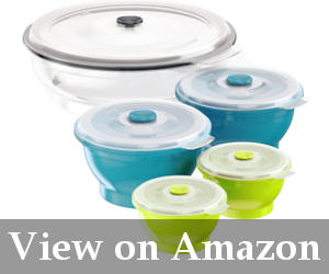 large silicone food storage containers